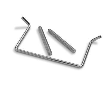 Auronde hoekoplegklem voor spiraal